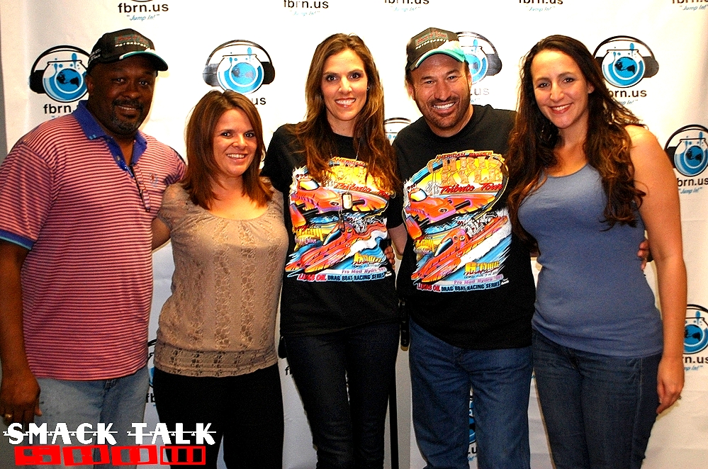Marty Logan and Taya Kyle with the Smack Talk Crew